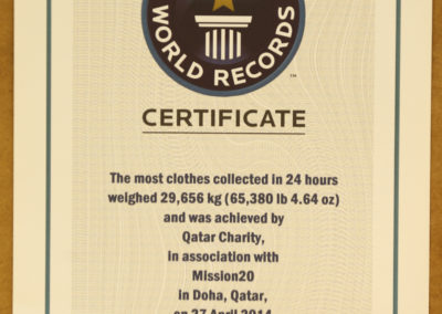 2014 Guinness World Record- the most clothes collected in 24 hrs